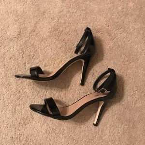 Mix No. 6 Lina Black Ankle Strap Heels Size 8